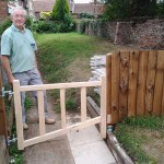 Tony erected the fence