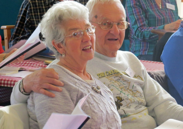 Members of the Singing Cafe, run by Wymondham Dementia Support Group, record a CD
