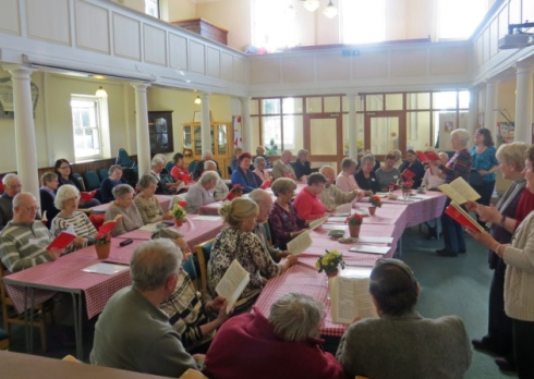 Members of the Singing Cafe, run by Wymondham Dementia Support Group, record a CD.